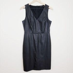 ark & co 》Faux Leather Sheath Dress Size Medium